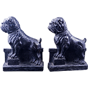 Composite bulldog pair of bookends circa 1940