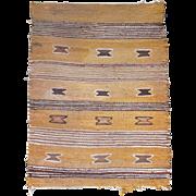 Vintage Navajo rug or saddle blanket mid-20th century