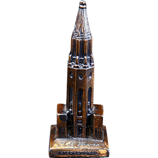 Cast metal souvenir of the Sun Tower from the Golden Gate Exposition 1940