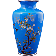 Japanese cloisonné vase with birds and branches early 20th century