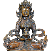 Sino-Tibetan bronze Buddhist figure of Maitreya 20th century