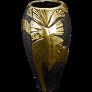 Japanese Art Nouveau design bronze vase circa 1910 Meiji period