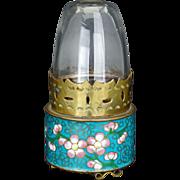 Vintage Chinese cloisonné opium lamp