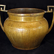 REDUCED European decorative Arts and Crafts brass urn - Early 20th century