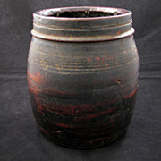 Early 20th century Nepalese handmade wood food container