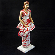 1940's Miniature Display Pattern Mannequin with an Original Summer Outfit