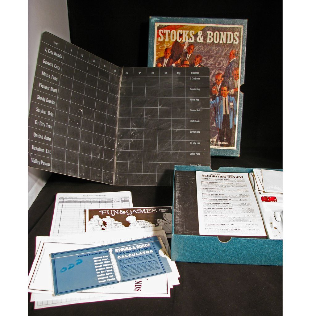 how to play stocks and bonds board game