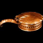 Vintage Gregorian Hand Hammered Copper Oak Leaf Silent Butler or Table Crumber #101 c 1960