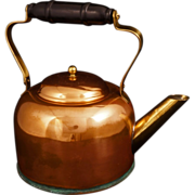 Vintage copper-coated aluminum kettle c 1960