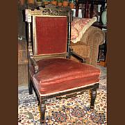Antique Ebonized Aesthetic Eastlake Movement Side Chair