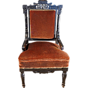 Antique Ebonized Aesthetic Eastlake Movement Side Chair ca 1870