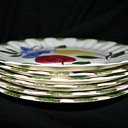Blue Ridge Bountiful -- 6 Dinner Plates