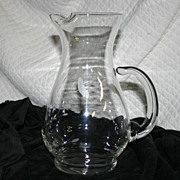 Princess House Crystal Pitcher