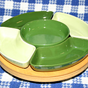 Vintage Lazy Susan with Relish Tray