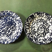 Two Black Stangl Town & Country Salad Plates