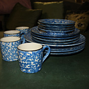 Stangl  Blue Town & Country 16-pc Service for 4