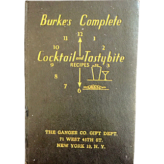 Burke's Complete Cocktail and Tasty Bit Recipes book New York