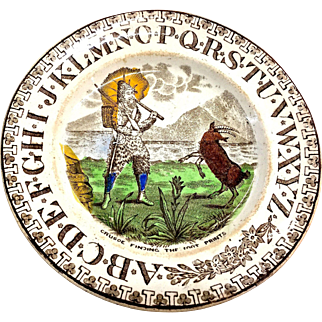 ABC plate Robinson Pottery England