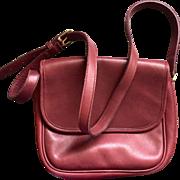 Coach Brown Mahogany leather saddle bag handbag purse never used