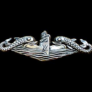 Hilborne & Hamburger WWII military pin brooch