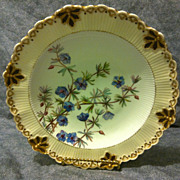 Royal Crown Derby dessert stand early nouveau form 1885 and lovely HP floral decor EXC