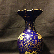 "Royal Crown Derby Bloor cobalt and gold vase 6.5"" circa 1820's"