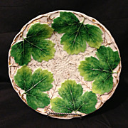 "Meissen leaf and vine gold gilt rare deep mold 9"" plate circa 1830's in excellent antique condition"