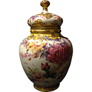 """Royal Crown Derby Rococo jeweled covered 12"""" Rose vase Gorgeous"""