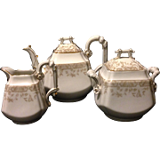Old Paris made T&V Limoges studio decorated Aesthetic Movement Tea set