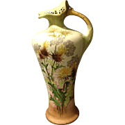 "RstK Amphora Nouveau 16"" Pitcher Vase Reticulated Drop Edge Candle Rim Dandelion"