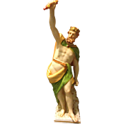 "KPM Berlin 19th century 1st Quality Greek King God Zeus 8"" Figure Rare Gorgeous"