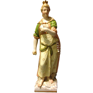 "KPM Berlin 19th century 1st Quality Greek Queen Goddess Hera 6.5"" Figure Rare"