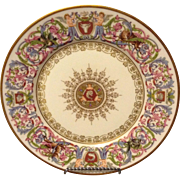 Sevres France St. Cloud 1846 Rococo Plate w Flowers Putti Sea and Wild Life Outstanding