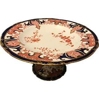 Royal Crown Derby 19th Century 1st Quality Imari Ferns Pattern 2712 Dessert Compote Tazza