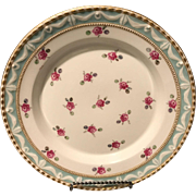 "KPM Berlin 19th Century 1st Quality Kurland Rose 8"" plate Stunning Example"