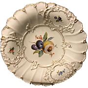 "Meissen 19th century 1st Quality 11.75"" Charger Bowl with Bisected Fruit"