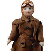 Aviatrix All-Bisque Dollhouse Doll