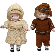 Pair of J. D. Kestner Googly Dolls