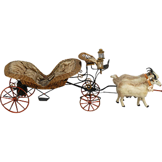 Mechanical Double Goat Cart from the Gustave Vichy