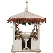 Darling German Dollhouse Gazebo