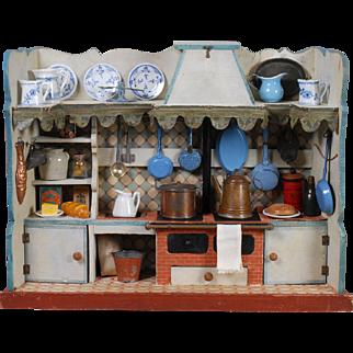 Wooden Dollhouse Kitchen