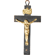Dollhouse Ebony Stained Crucifix
