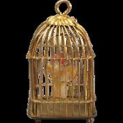 Erhard & Söhne Ormolu Parrot Cage