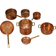 French Copper Cookware for Dollhouse