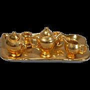 French Gilded Porcelain Tea Set