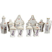 German Kitchen Dollhouse China Canisters