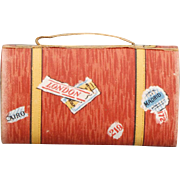 German Candy Container Satchel in Lithographed Paper