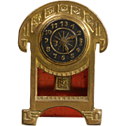 Erhard & Söhne Arts and Crafts-era Mantel Clock