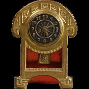 Erhard & Söhne Arts and Crafts-era Mantel Clock