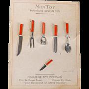 Dollhouse Kitchen Toll Set on Card